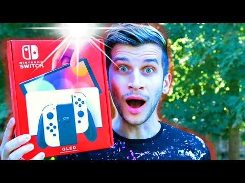 Nintendo Switch OLED Unboxing and Setup! (Switch vs Switch OLED Comparison!)