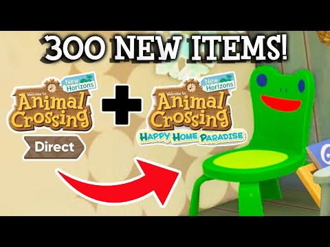 ALL New Items (~300!) in Animal Crossing Update 2.0 + Happy Home Paradise DLC!