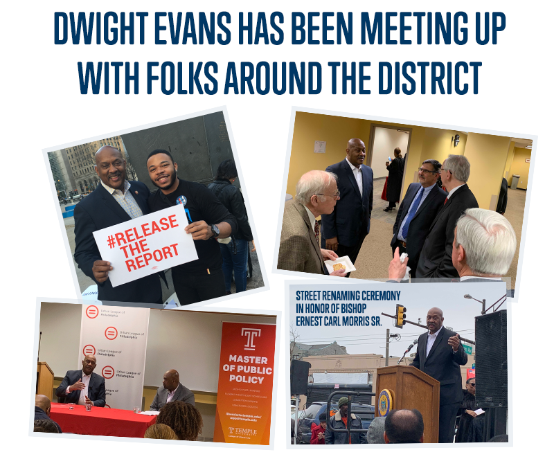 Diwght has been meeting up with folks around the district