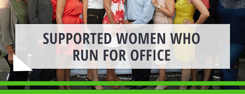 supported women who run for office