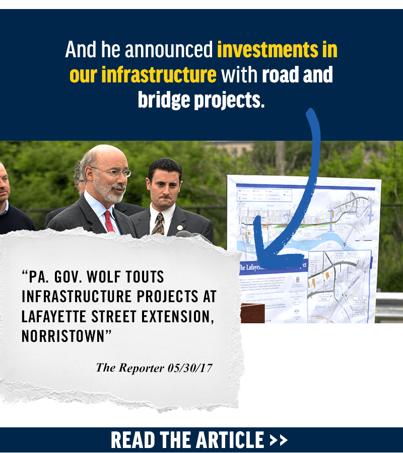 And he announced investments in our infrastructure with road and bridge projects. Read more: