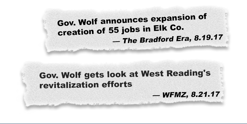 Gov. Wolf announces expansion of creation of 55 jobs in Elk Co.