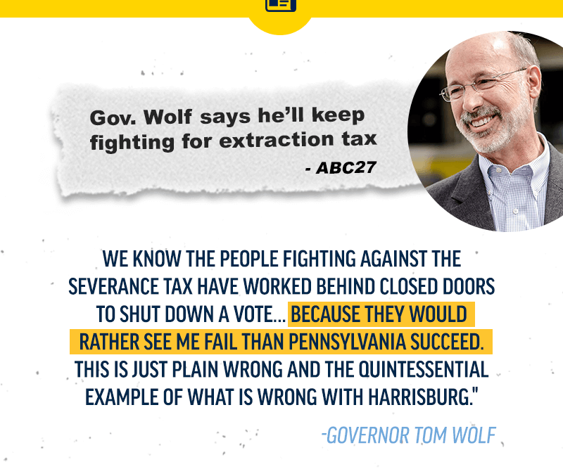 Fighting for an extraction tax. Read more.