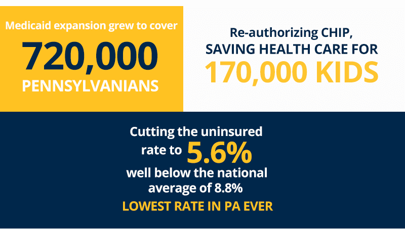 Tom protected health care for millions of Pennsylvanians.