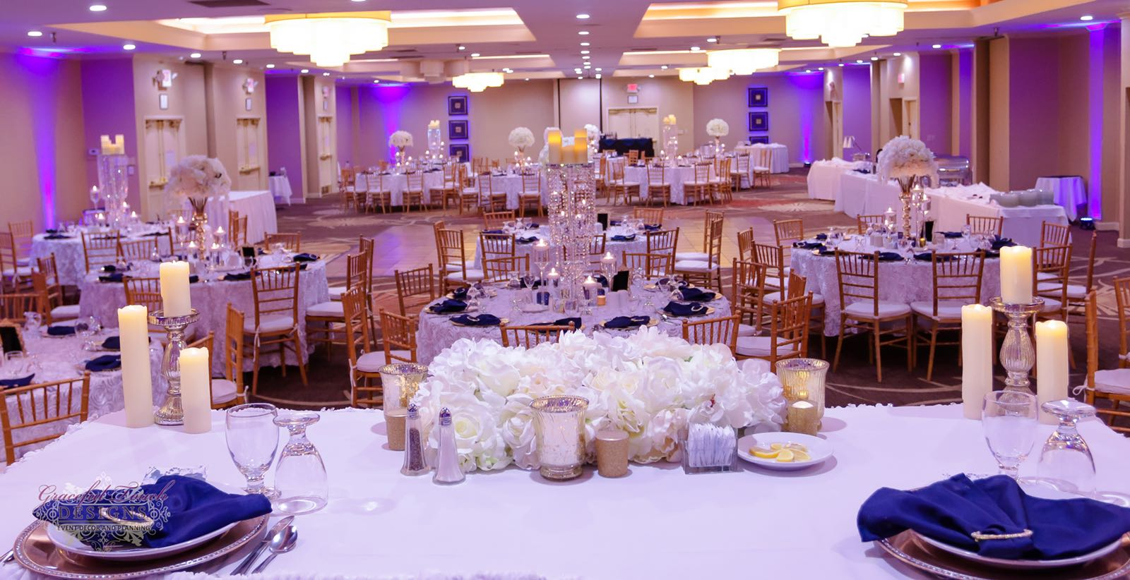 Royal Purple And Gold Wedding Decor  from s3-us-west-2.amazonaws.com
