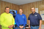 Premier Cooperative Dewey Jason Risley, regional operations manager; Wes Ware, maintenance/project manager; and Jeff Breen, COO