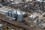 Le Mars Agri Center Inc. aerial sioux steel
