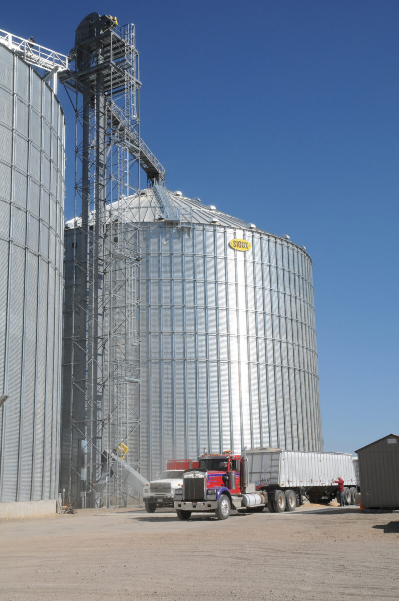 New Steel Tank Project at Reinke Grain in Ashton, ID (Photos by…