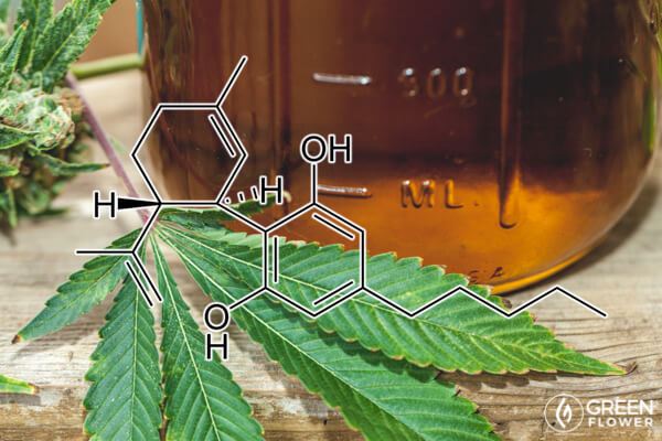 jar of cannabis oil
