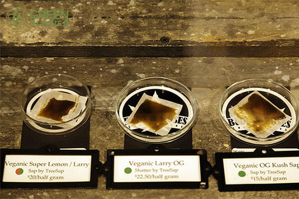 three cannabis concentrates