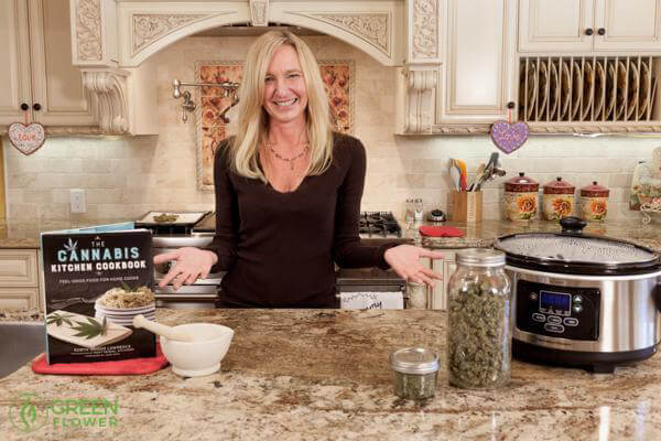 Robyn Lawrence cooking with cannabis