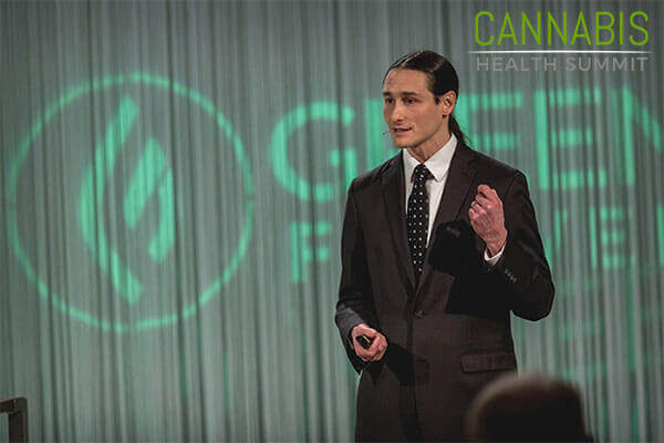 Dustin Sulak speaking at Cannabis Health Summit.