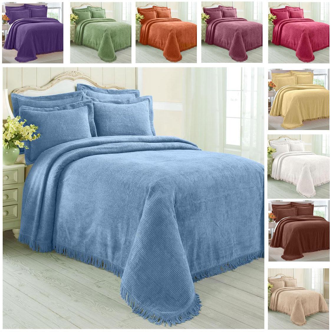 Greenhome123 100 Cotton Chenille Bedspread Select Color