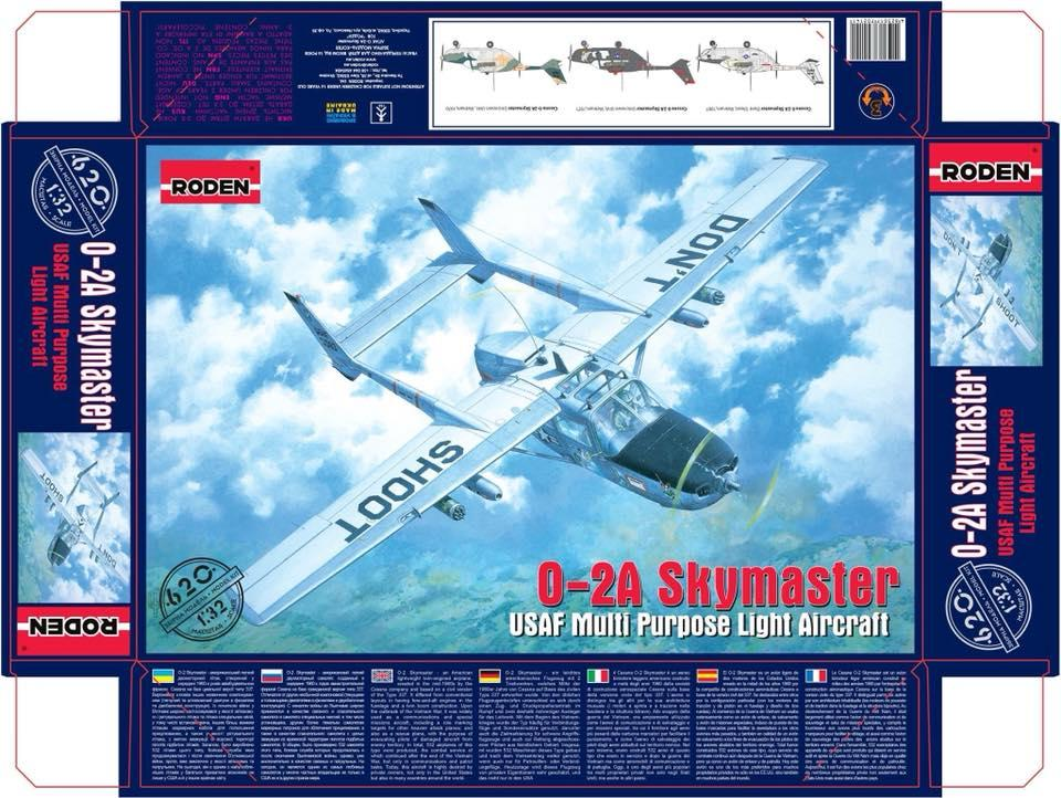 1/32 - Cessna 337 & O-2 Skymaster by Roden - released - new boxing