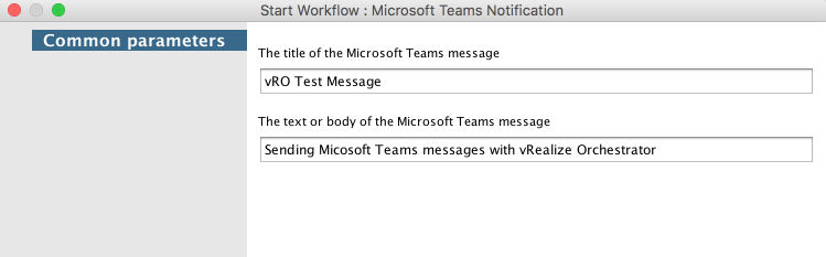Sending Microsoft Teams messages with vRealize Orchestrator