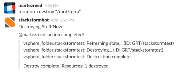 Terraform ChatOps with StackStorm