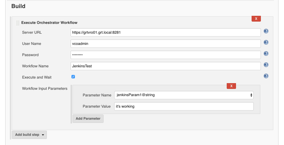 Triggering a vRO workflow with Jenkins