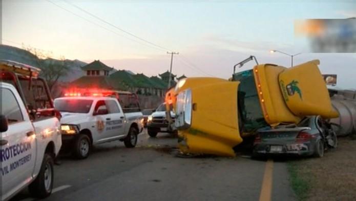 Recuento de accidentes causados por transporte pesado / Foto: Televisa