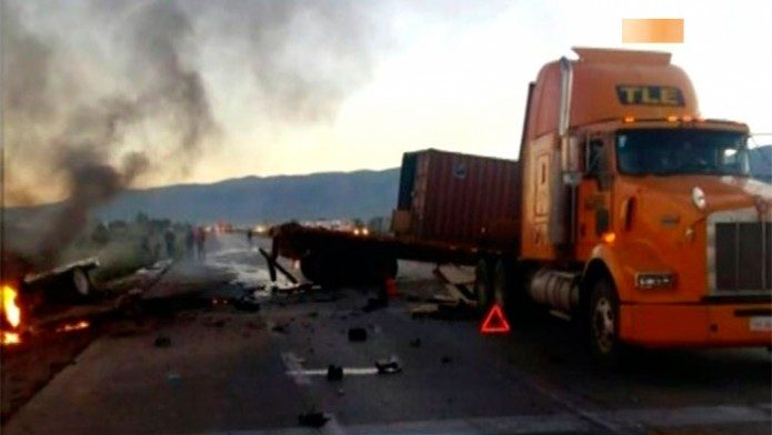 Los transportistas rechazan restricciones / Foto: Televisa