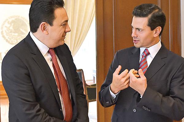 Omar Fayad y EPN- Gregorio Martínez.