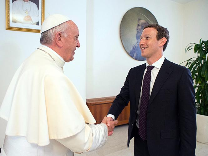 Papa Francisco y Mark Zuckerberg- Gregorio Martínez.