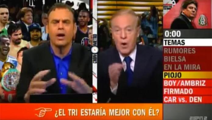 José Ramón Fernández y David Faitelson se amenazan en programa- Gregorio Martínez.