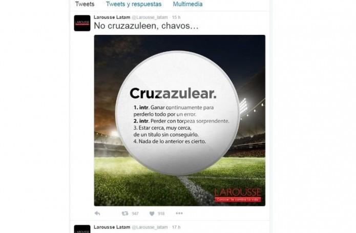 Se burla Larousse del Cruz Azul- Gregorio Martínez.