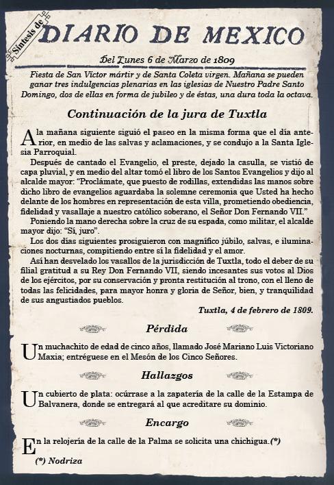 Se lanza el primer periódico de publicación diaria en México. Foto: Cortesía