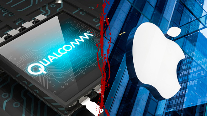 La guerra entra Apple y Qualcomm se recrudece