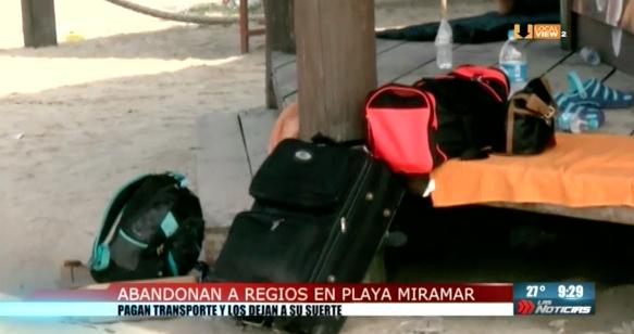 Abandonan a 24 regiomontanos en Playa Miramar, al sur de Tamaulipas