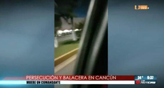 Le comparto más imágenes de la persecución y balacera ocurrida anoche en Cancún