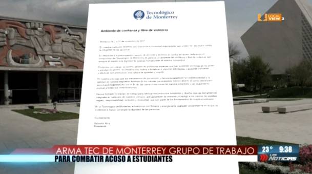 Responden el Tecnológico de Monterrey y la Universidad de Monterrey a las denuncias de acoso sexual