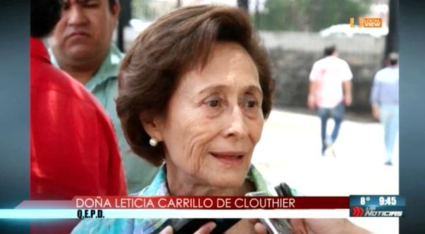 Ayer falleció la señora Leticia Carrillo viuda de Clouthier