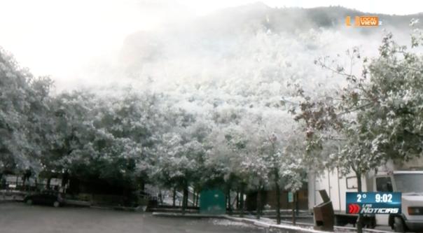 Una vez más el Parque Ecológico Chipinque y la sierra de Santiago nos ofrecieron un paisaje invernal