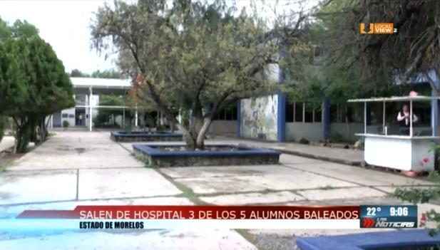 Salen de hospital 3 de 5 alumnos baleados