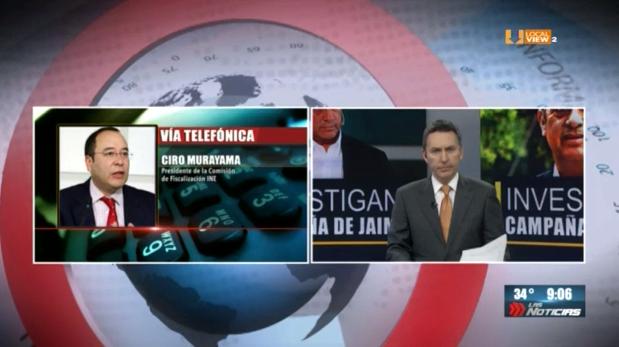 #Entrevista. Ciro Murayama, Presidente del Comité de Fiscalización del INE. Platicamos sobre el financiamiento ilegal de Jaime Rodríguez