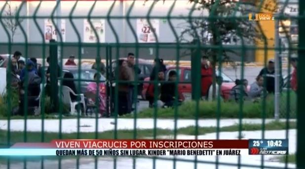 Sigue el viacrucis. Dejan sin lugar a decenas de niños en una escuela de Juárez, NL