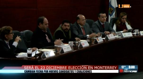 Tal como se esperaba. Cambian la fecha de la elección extraordinaria en Monterrey. Será el domingo 23 de diciembre