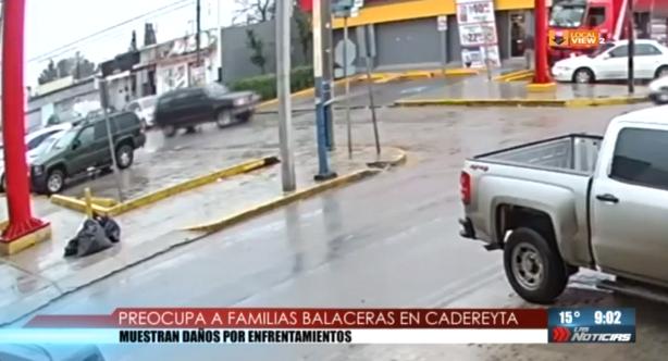 #Video del ataque a policías en el centro de Cadereyta. Los vecinos externan su preocupación