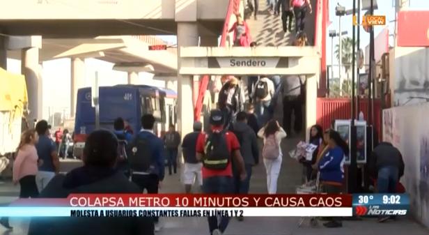 Otra falla en el metro de Monterrey. Y aún así le pretenden subir el precio. #NoAlTarifazo