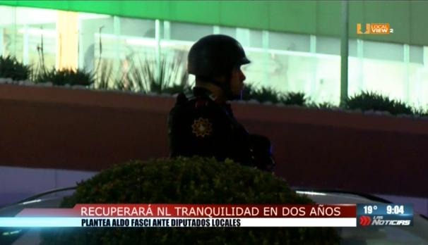 La tranquilidad en Nuevo León se recuperará ¡dentro de dos años!, dice el Secretario de Seguridad