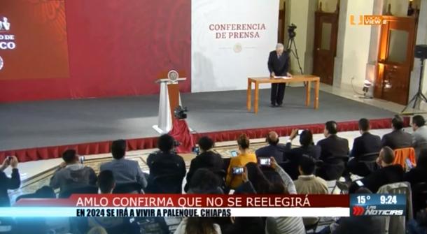 El Presidente López Obrador se compromete a no buscar la reelección