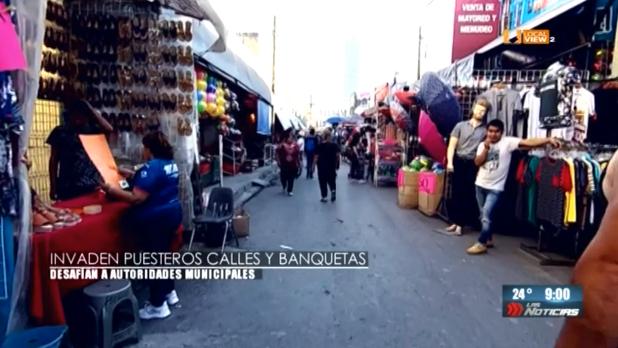El comercio informal, un problema recurrente en el centro de Monterrey