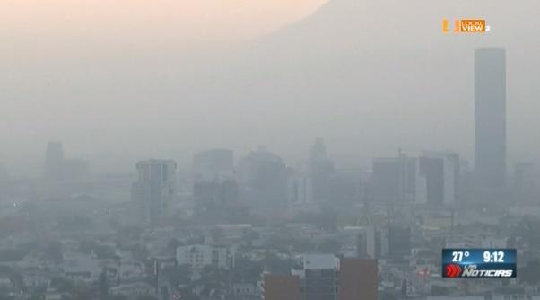 De mal en peor la calidad del aire en la zona metropolitana de Monterrey. Ayer, otra vez, alerta ambiental