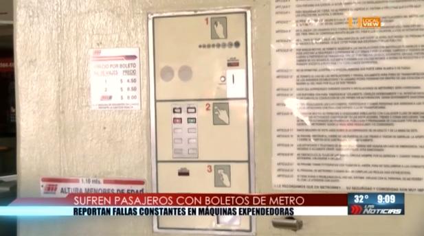 El metro de Monterrey, que se está cayendo a pedazos, también registra fallas en las máquinas de boletos