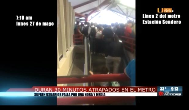 Otra falla en el metro de Monterrey. Ayer por la mañana estuvo al borde de colapso