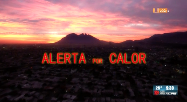 #Cuidado. Calor extremo a partir de mañana aquí en la zona metropolitana de Monterrey