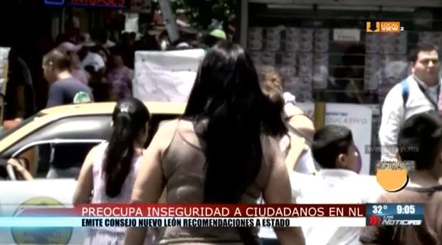 Preocupa inseguridad a ciudadanos en Nuevo León