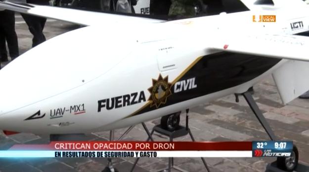 Critican opacidad por dron en resultados de seguridad y gasto