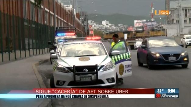 En Nuevo León continúa la cacería de vehículos Uber, Didi y Cabify